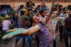Joy | Holi (SaumalyaGhosh.com) Tags: travel people india colors festival nikon joy holi enjoyment festivalofcolors