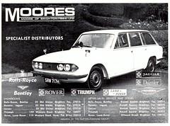 1970 ADVERT - MOORES OF BRIGHTON - TRIUMPH 2000 ESTATE MK2 (Midlands Vehicle Photographer.) Tags: 1970 advert moores of brighton triumph 2000 estate mk2 triumphcardealer