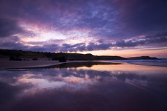 Dusk Reflections (Tracey Whitefoot) Tags: sunset west reflection beach reflections evening coast scotland town seaside dusk north 500 tracey sutherland durness 2016 whitefoot nc500