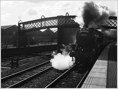 Perth Great Britain IX 2 (The Anti-Sharpness League) Tags: black mono scotland 5 five rail olympus perth railtour jadmor
