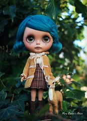The valley (pure_embers) Tags: uk alpaca girl hair doll dolls teal tan deer fawn blythe neo custom pure takara briar embers reroot sammydoe pureembersbriar