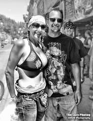 Aug 8 2011 - Deadwood photo bomber (lazy_photog) Tags: ladies black photography women south rally bikes class tattoos harley hills lazy babes motorcycle races davidson dakota deadwood sturgis elliott bikers photog 080811sturgisday3