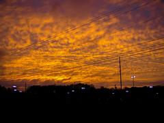 Sunset lights the wires - Happy Telegraph Tuesday (randyherring) Tags: sunset arizona sky orange phoenix evening outdoor az wires