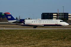 N406AW (Air Wisconsin) (Steelhead 2010) Tags: yyz crj canadair crj200 airwisconsin usairwaysexpress nreg n406aw