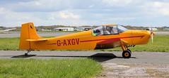 Rollason Druine D-62B Condor G-AXGV Lee on Solent Airfield 2016 (SupaSmokey) Tags: lee solent condor airfield 2016 druine rollason d62b gaxgv