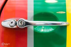 Minipart (sirixception) Tags: auto door red green colors lines car yellow groen belgium stripes transport hasselt belgi mini exposition cooper knob mode geel rood deur tentoonstelling lijnen strepen klink kleuren