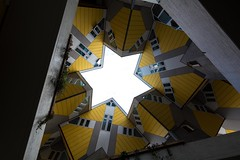 A Star Within the Cubes (ShutterBasset) Tags: homes sky netherlands yellow architecture rotterdam nikon tokina bland cubic d5200