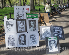 Portrait Paintings, Central Park, New York City (jag9889) Tags: park nyc newyorkcity portrait usa ny newyork face marilyn painting spring audreyhepburn unitedstates outdoor centralpark manhattan marilynmonroe unitedstatesofamerica landmark icon actress caricature beatles cp rockband johnlennon ringostarr johnfkennedy thebeatles easel paulmccartney themall georgeharrison nycparks 2016 publicpark newyorkcitydepartmentofparksrecreation jag9889 20160424