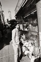 AA029 2 (heavyasmountains) Tags: nyc newyorkcity blackandwhite slr film 35mm photography nikon candid streetphotography noflash 24mm fm3a filmphotography streetstyle