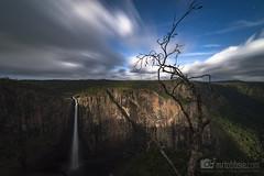 Moonlit Falls (MrTobbsie) Tags: light moon nature stars waterfall long exposure australia queensland wallaman