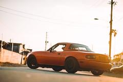 Sunset Spec Miata (Ricky Flores) Tags: orange black golden momo nikon miami porsche hour mazda miata mazdaspeed hialeah specmiata d700 85mm14afd