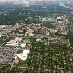 Explore KU from far above. (The University of Kansas Official Flickr Site) Tags: lawrence ku kansas lawrencekansas campuslife universityofkansas kucampus campusbeauty exploreku exploreku