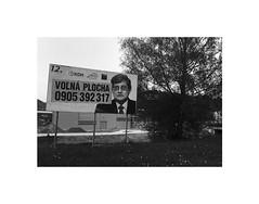 blank space (Marek Pupk) Tags: life street city portrait blackandwhite bw apple monochrome europe outdoor central documentary billboard slovakia elections iphone 5s