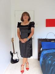Black (Trixy Deans) Tags: cute sexy classic tv cd crossdressing tgirl tranny transvestite transgendered crossdresser crossdress sexylegs transsexual classy trixy cocktaildress sexyblonde tgirls xdresser sexyheels trixydeans sexytransvestite