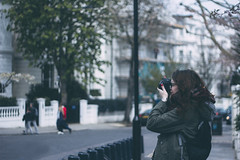 112/366 (abnormalbeauty.) Tags: camera trees portrait cute london girl bag photography day bokeh lovely nottinghill