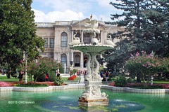 Dolmabahe Palace Fountain (Christopher M Dawson) Tags: travel building tourism architecture turkey istanbul palace international government sultan dawson turkish dolmabahe palace cmdawson 184356 2015 dolmabahe