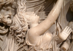 Medea Sarcophagus, Burning (close)