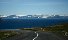 Iceland (vsig) Tags: safjrur iceland safjarardjp vestfirir clouds wolken          island westfjord berg mountain sonne sun wind fjord stradde road snow schnee polar arctic islande