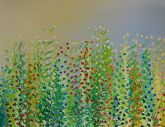 Sunrise Garden (BKHagar *Kim*) Tags: flowers art floral gardens garden painting artwork paint artist acrylic mixedmedia growing oils bkhagar