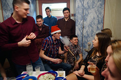 new year (osipova_polina) Tags: girls party people students night pentax smoke dorm guys newyear smoking celebration nightlife saintpetersburg dormitory hookah spb piter pentaxkx  pentaxda