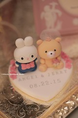 Love rabbit and bear wedding cake topper (charles fukuyama) Tags: bear wedding bunny lapin brideandgroom initials ours   lovebear weddingcaketopper   customcaketopper cuterabbit  claydoll handmadecaketopper animalscaketopper bearcaketopper rabbitcaketopper kikuike