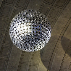 A lamp like a mirror ball (typographics2010) Tags: lamp glitter ball mirror round kugel disko diskokugel