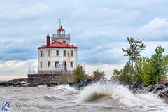 Fairport Harbor Lighthouse (Kenneth Keifer) Tags: old light ohio red lighthouse white seascape storm tower nature weather architecture clouds port vintage landscape coast harbor midwest waves shine lakeerie cloudy shoreline stormy historic greatlakes shore maritime coastline nautical grandriver beacon shining navigation lakecounty breakwater fairportharbor fairportharborlight fairportharborwestbreakwaterlighthouse fairportharborlighthouse westbreakwater westbreakwaterlight fairportharborwestbreakwaterlight westbreakwaterlighthouse