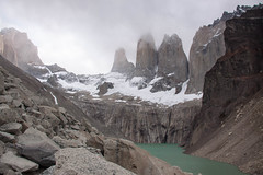 Mirador Las Torres - Torres del Paine - Patagonia, Chile (ChrisGoldNY) Tags: chile travel parque patagonia mountains cold ice latinamerica southamerica nature fog clouds nationalpark rocks moody forsale cloudy foggy parks landmarks albumcover torresdelpaine bookcover iconic bookcovers albumcovers licensing chilean greatoutdoors thechallengefactory chrisgoldny chrisgoldberg chrisgoldphoto