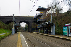 Lodge Road, Tram Stop (LFaurePhotos) Tags: railroad bridge architecture outdoor platform arches westmidlands tramstop westbromwich blackcountry sandwell lodgeroad
