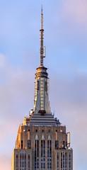 Empire State Building (josullivan.59) Tags: nyc travel blue light wallpaper panorama orange usa newyork detail geometric weather architecture sunrise day unitedstates january midtown historical lightanddark artisitic 2016 nicelight sunriselight 3exp canon6d tamron150600