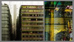 yellow for safe crossing (Kai-Ming :-))) Tags: reflection building art glass rain collage hongkong sony creative led tsimshatsui zebracrossing cityview nathanroad pekingroad chungkingmansions ledlight kaiming dscrx100m4 kmwhk buildingled life´sajourneylevel2coverphotofebruary2016