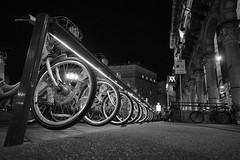 bikes (giorgioGH) Tags: light italy milano wheels bikes m metropolitana bycicles byke biciclette ruote piazzaduomo metropolitanamilanese