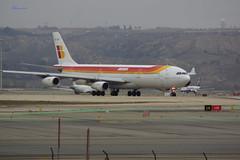 Airbus340 (Kilmar2010) Tags: planes iberia aircrafts aviones barajas madridairport airbus340 aeropuertodemadrid sppoting madridflghafen adofosuarezmadridbarajas flughzeufge
