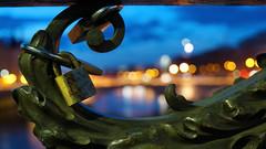 Paris (Yann OG) Tags: bridge sunset paris france seine french cadenas cityscape bokeh cité notredame cathédrale citylights pont bluehour 169 français parisian pontneuf coucherdesoleil lovelock conciergerie parisien sigma30mm heurebleue
