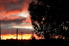 IMG 2392 From the back door (Eminpee Fotography) Tags: sunset sky clouds deepwater