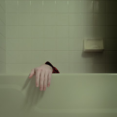 70/366: Hands OFF (thomas officer) Tags: white cooking project tile square bathroom shower bath hand arm cook off minimal pale teen faded tub restroom bathtub desaturated 365 minimalism conceptual simple minimalistic faint 1x1 366