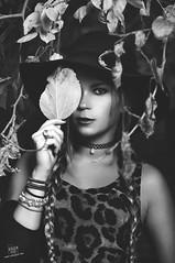 Deby (rubenfcid) Tags: autumn portrait woman tree fall girl hat leaves forest hair woods dress gente blond blonde cheetah blondie aire libre braid plait airelibre