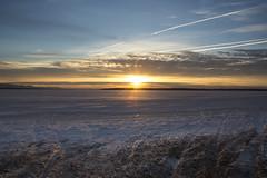 barren winter sunrise (Barbara A. White) Tags: snow ontario canada clouds sunrise landscape january ottawariver woodlawn riverscape constancebay