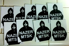 nazer26 stickers (Wizards_Stickers) Tags: graffiti stickers labels usps slaps collabs cholowiz nazer26