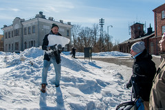 Snow machine gun (LiveToday84) Tags: trip travel winter sea ice water island boat frozen helsinki north suomenlinna d80