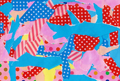 skyblue & pink (unikto) Tags: pink blue red sky sun colour water yellow circle paper star origami stripe dot sheet colourful skyblue corage