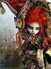 Carnevale di Venezia (NylonBleu) Tags: monster de high ooak di carnaval custom mh venise carnevale venezia mattel custo repaint ghoulia nylonbleu kegerneteka