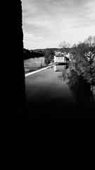 IMG_2874 (dcdnc) Tags: bridge building art water monochrome wall architecture modern stairs contrast landscape lot pont cahors