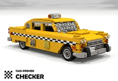Checker A11 - 1981 (New York City Taxi) (lego911) Tags: auto new york usa classic chevrolet car america model lego yacht marathon render cab taxi small chevy 1950s land 1958 1981 block 1960s 1970s build 1980s checker challenge v8 cad lugnuts povray chev moc a11 ldd miniland 99th lego911