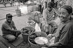 Panglao Ubi Vendors (Litrato Series) Tags: blackandwhite bw monochrome bohol seller ubi vendors