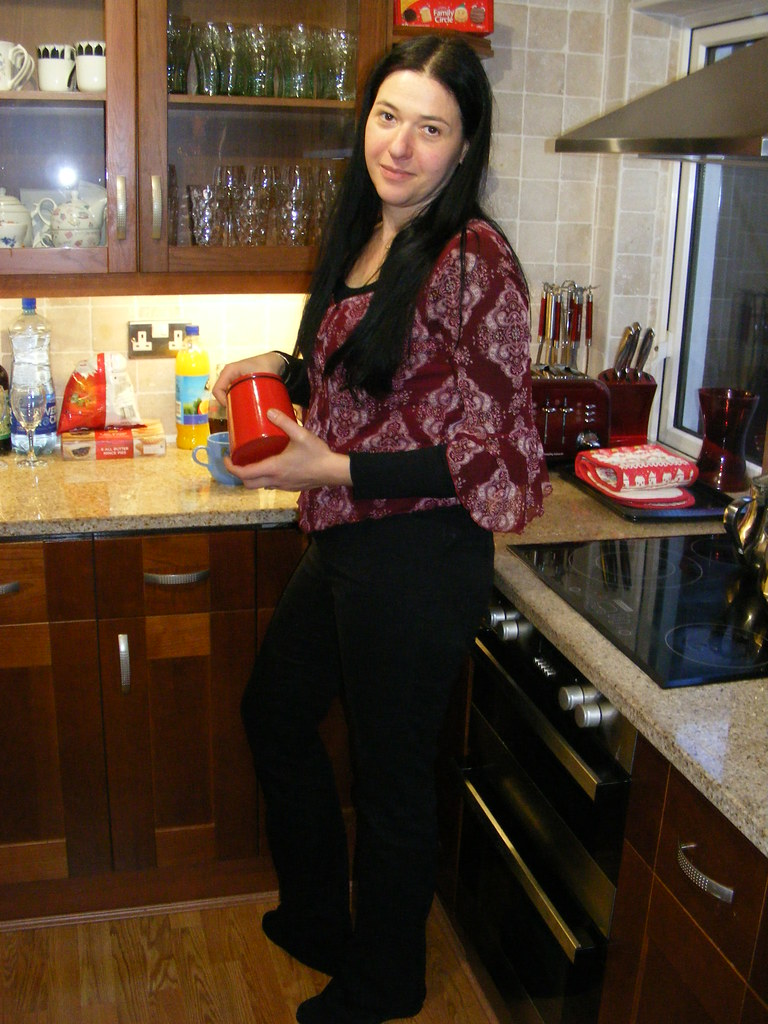 Good when Pretty teen brunette kitchen posing there other