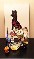 A Clowder of Cats Crept in and Consumed Custard ( EkkyP ) Tags: cats cat sketch gimp custard alphabet february collective cisfor cartoonify clowder