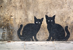 streetart cats in Valencia (Kristel Van Loock) Tags: city cats streetart black valencia spain katten espanha europa europe urbanart espana espagne gatti valence spagna spanje citt espagna muurschildering citytrip gattineri