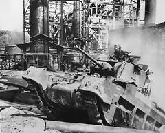 Australian Matilda IV in the fighting in Borneo, July 1945.