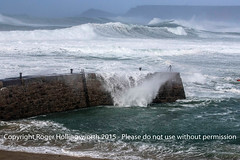 Sennen Cove Hit by Storm Imogen (doublejeopardy) Tags: sea england storm beach whitewater cornwall wind unitedkingdom wave gale gb imogen sennencove amberwarning